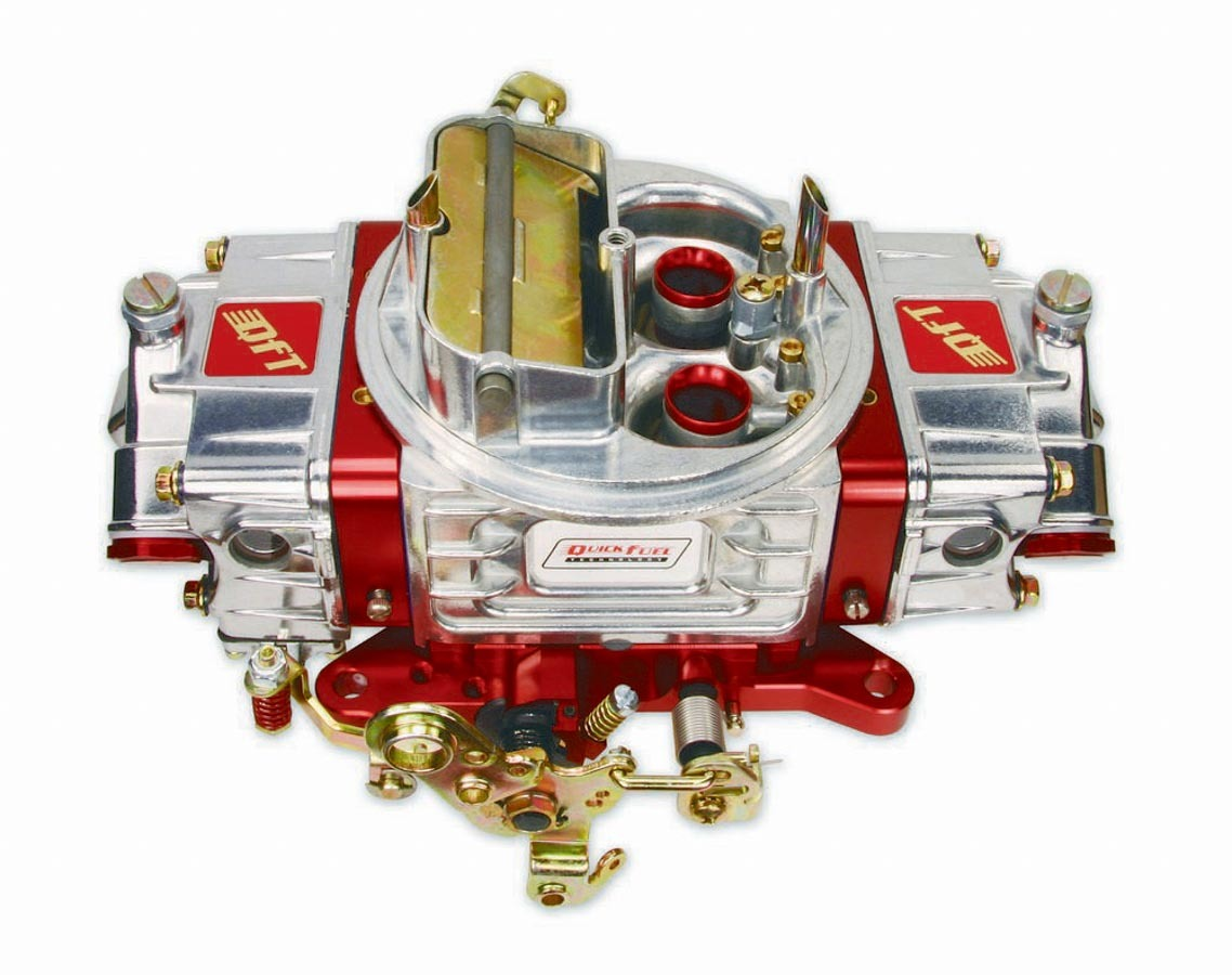 Quick Fuel Technology SS-750-AN Carburetor, SS-Series, 4-Barrel, 750 CFM, Square Bore, Electric Choke, Mechanical Secondary, Dual Inlet, Polished/Red Anodize, Each