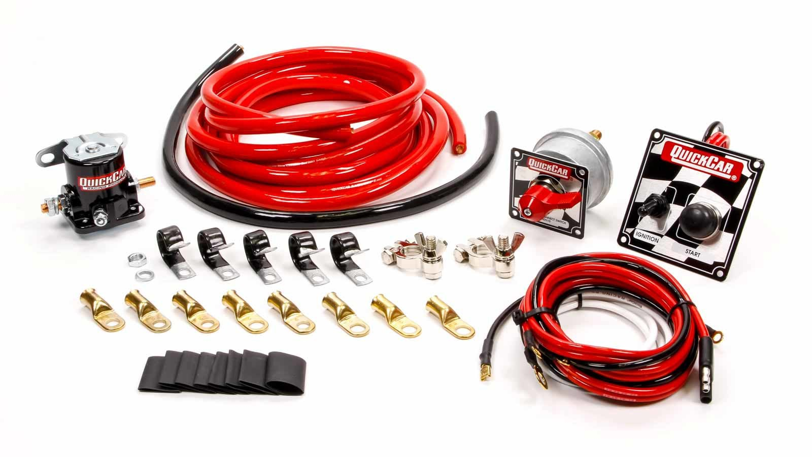 QuickCar 50-235 Wiring Kit, Ignition / Battery, Battery Cable / Battery Disconnect / Solenoid / Switch Panel / Terminals, 4 Gauge, Kit