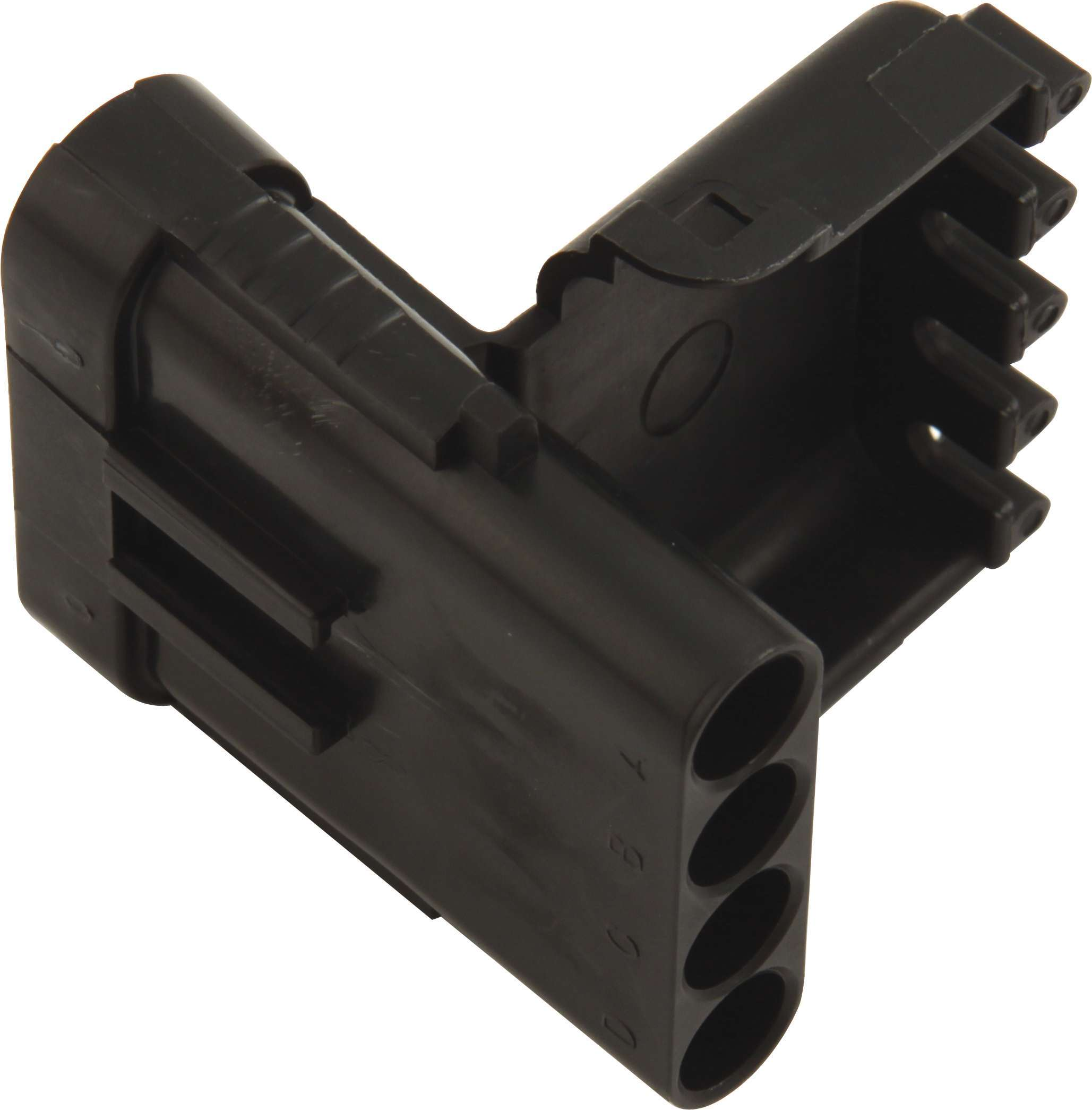 QuickCar 50-341 Electrical Connector, Weather Pack Sealed Connector, 4 Pin, Male, Plastic, Black, Each