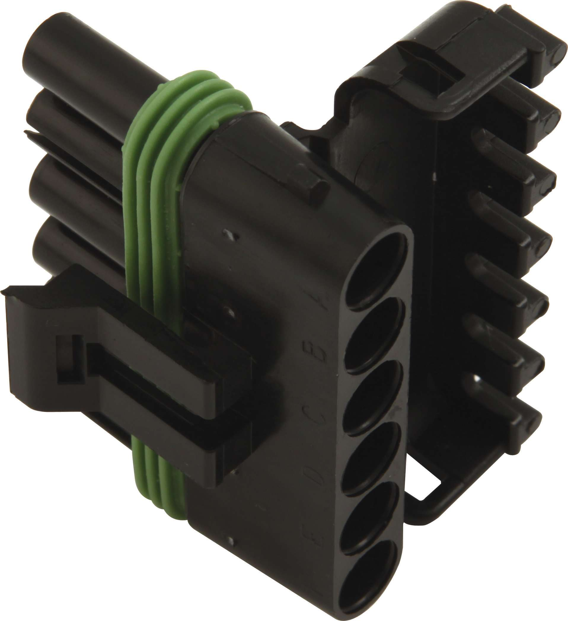 QuickCar 50-360 Electrical Connector, Weather Pack Sealed Connector, 6 Pin, Female, Plastic, Black, Each