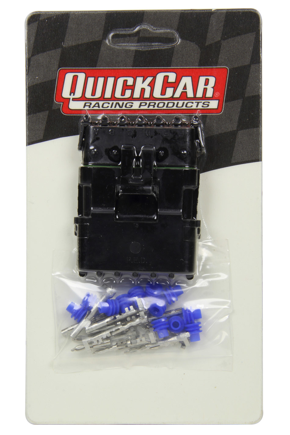 QuickCar 50-362 Electrical Connector, Weather Pack Sealed Connector, 6 Pin, Plastic, Black, Kit