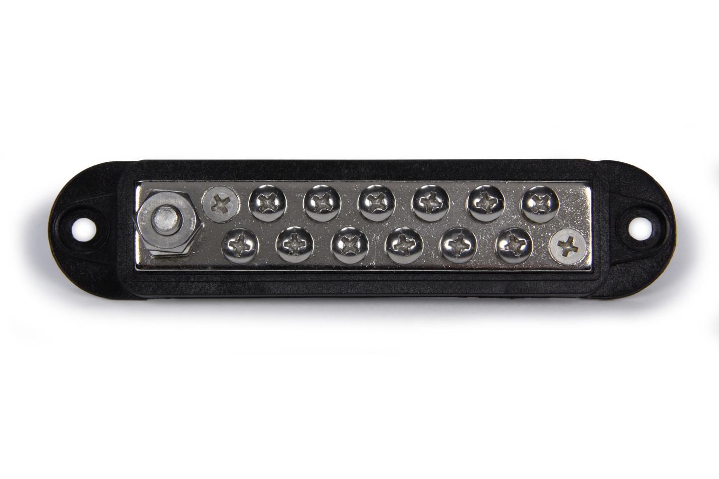 QuickCar 57-802 Terminal Block, 12 Wire, Black, Each