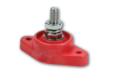 QuickCar 57-807 Junction Box, Panel Mount, Single Post, Insulated, Plastic, Red, Each