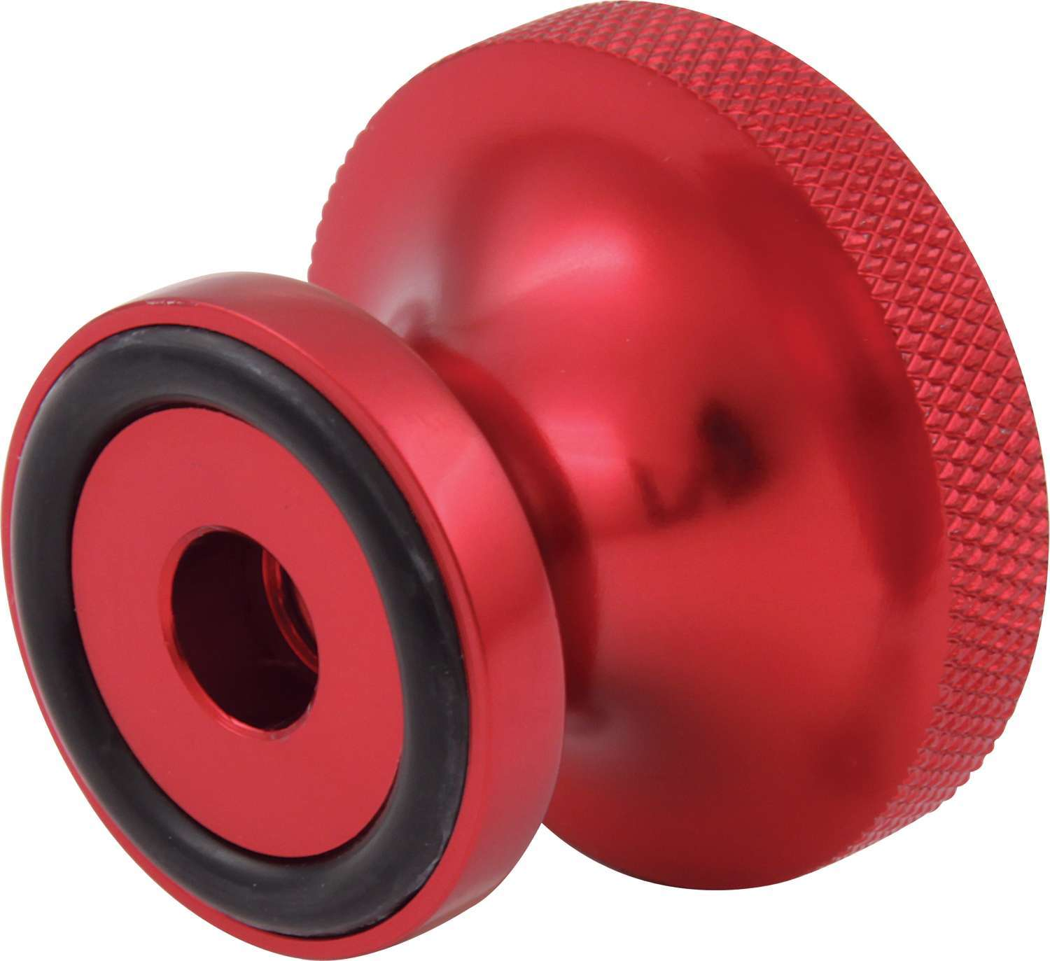 QuickCar 64-148 Air Cleaner Nut, Thumb Screw, 5/16-18 in Thread, O-Ring, Aluminum, Red Anodized, Each