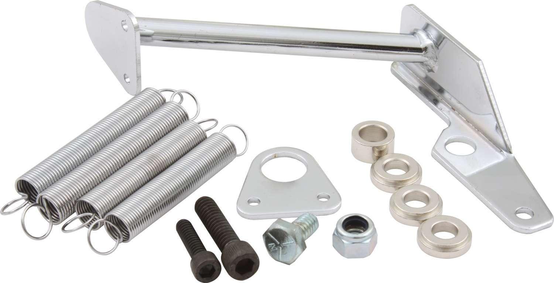 QuickCar 65-096 Throttle Return Spring Kit, Carb Mount, Steel, Chrome, Square Bore / Holley 2300 Carburetors, Kit
