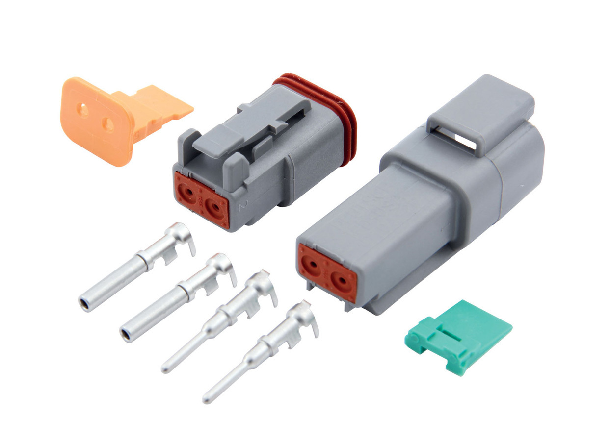 QuickCar 71-322 Electrical Connector, Deutsch Connector, 2 Pin, Housings / Pins / Seals / Wedge Locks, Kit