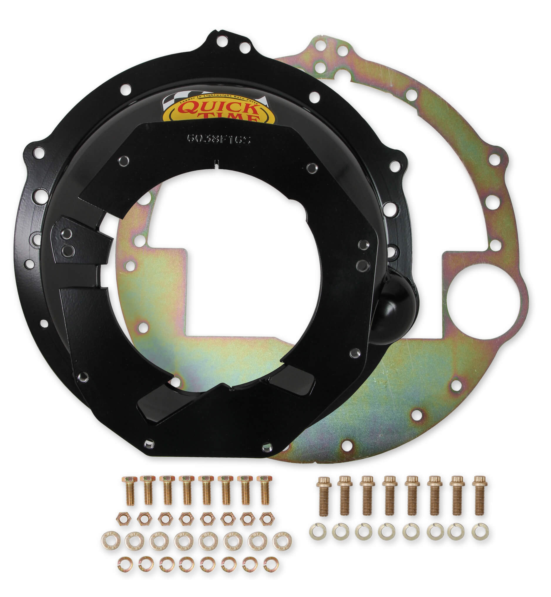 Quick Time RM-6038 Bellhousing, QuickTime, Hardware Included, SFI 6.1, Steel, Black Paint, GM LS-Series T56 Transmission, GM LS-Series, Chevy Camaro 2010-17, Kit