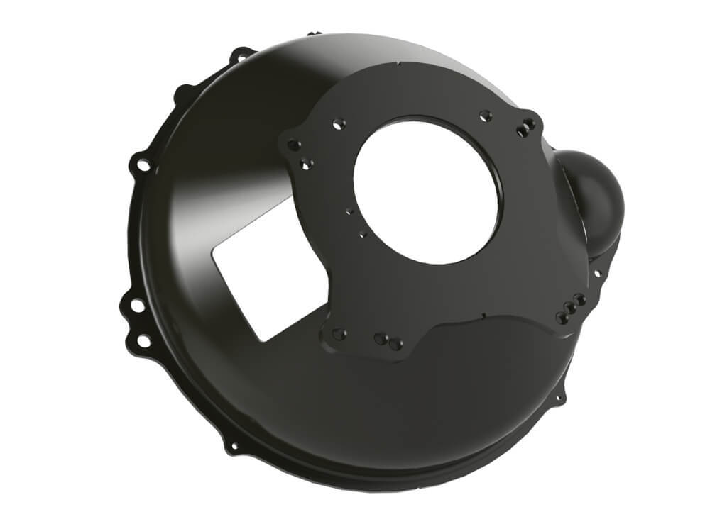 Quick Time RM-6057-9 Bellhousing, QuickTime, Steel, Black Paint, Toploader / Borg Warner T10, Ford FE-Series, Each