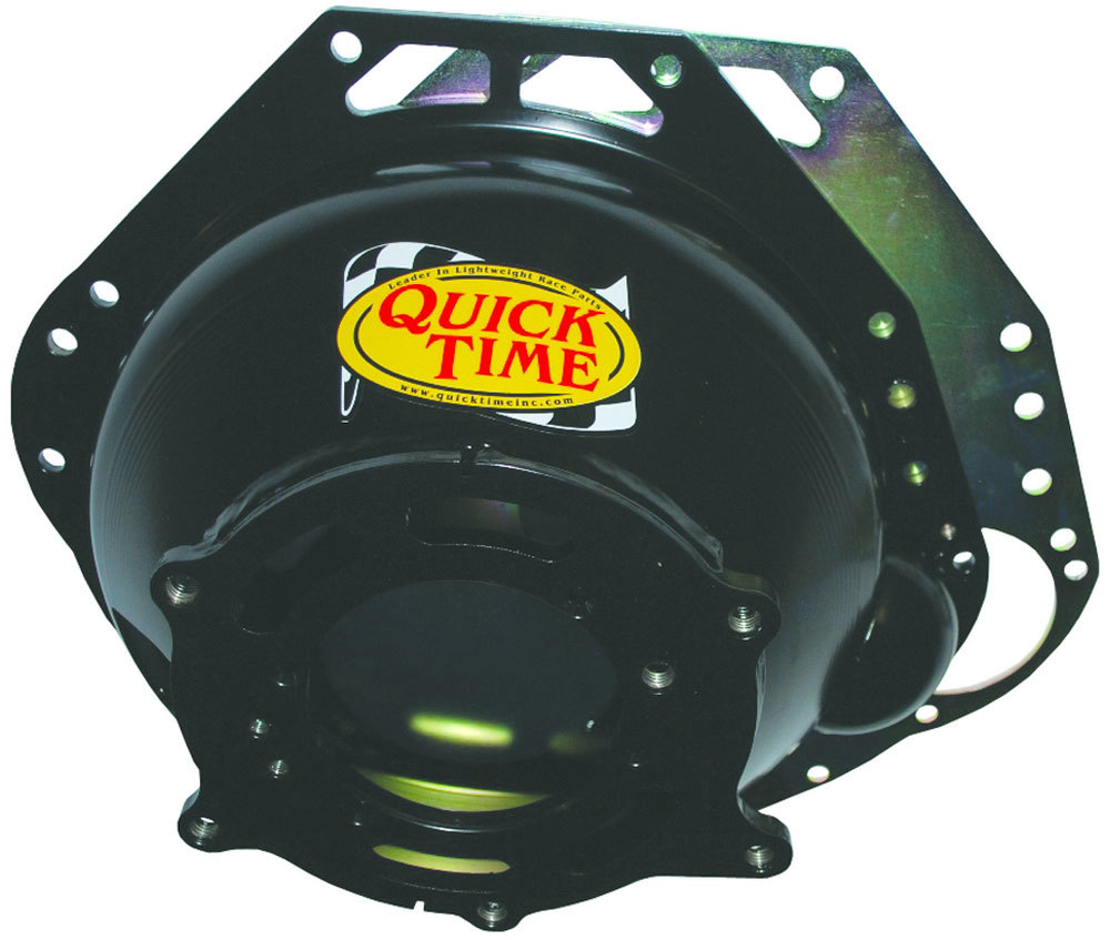Quick Time RM-6066 Bellhousing, Block Plate, Hardware Included, SFI 6.1, Steel, Black Paint, Various Transmissions, Small Block Ford, Kit