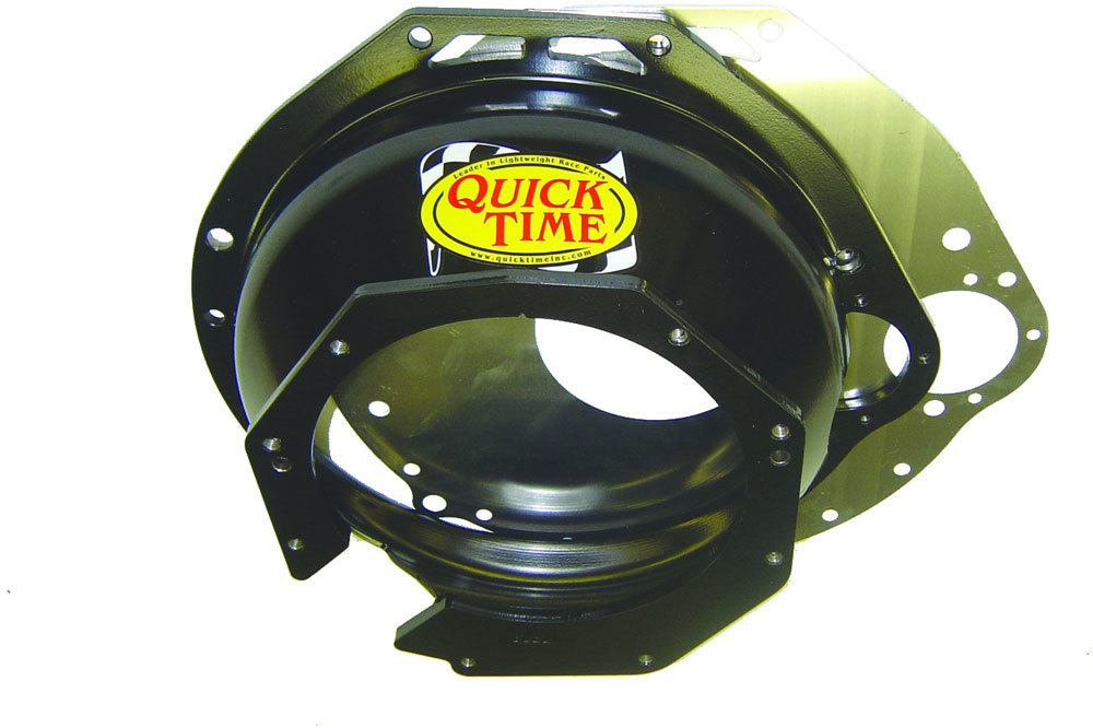 Quick Time RM-8080 Bellhousing, Block Plate, Hardware Included, SFI 6.1, Steel, Black Paint, Ford T56, Ford Modular, Kit