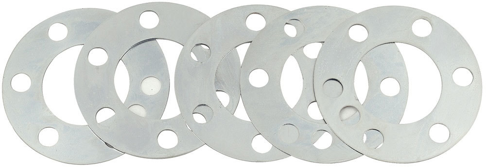 Quick Time RM-941 Flexplate Spacer, 0.030, 0.036, 0.048, 0.060 and 0.075 in Thick, 4.000 in OD, 2.085 in ID Center Hole, Steel, GM LS-Series, Kit