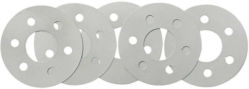 Quick Time RM-943 Flexplate Spacer, 0.030, 0.036, 0.048, 0.060 and 0.075 in Thick, 4.600 in OD, 1.760 in ID Center Hole, Steel, Zinc Oxide, Small Block Ford, Kit