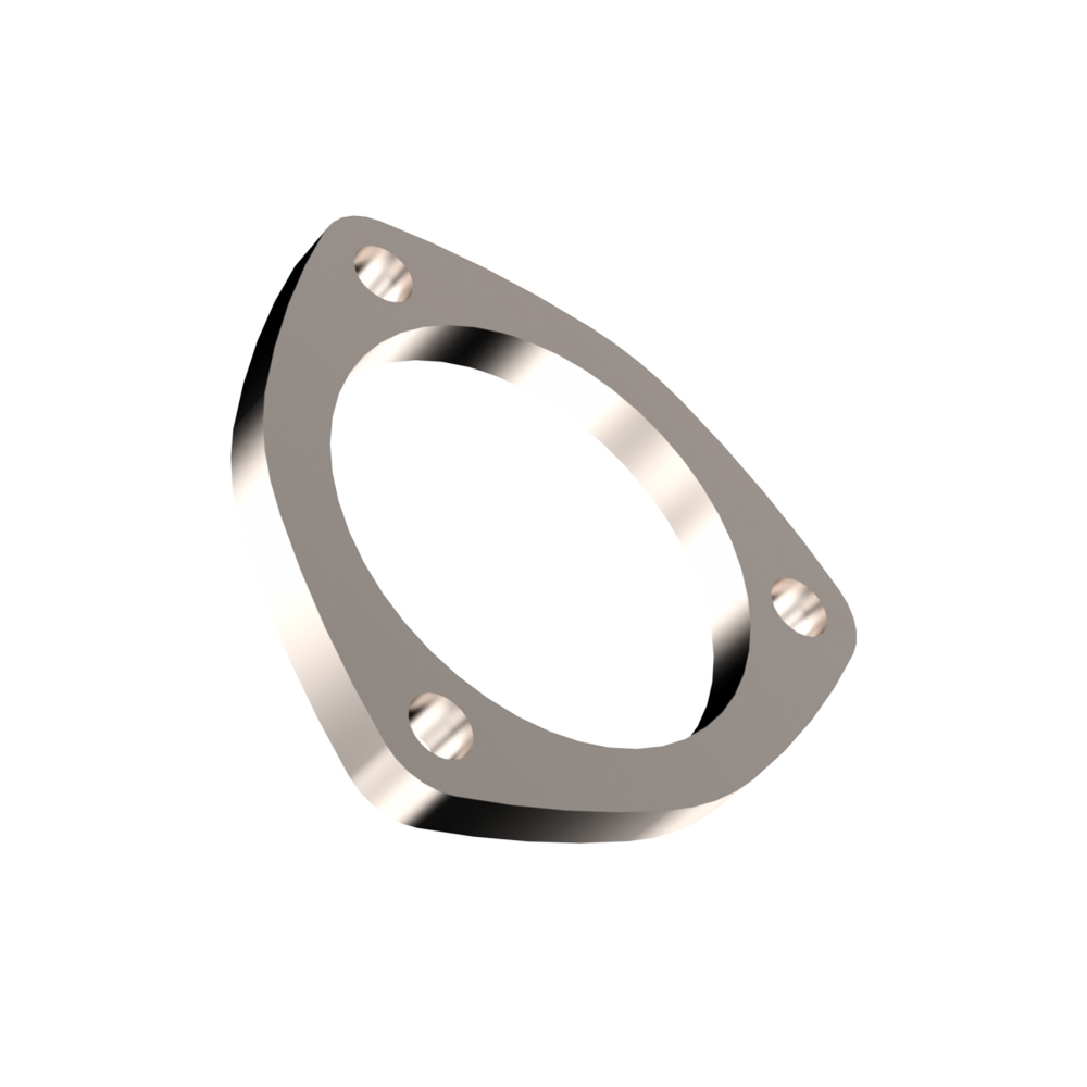 Quick Time Performance 10300F Header Flange, 3/8 in Thick, 3 in Round Port, Steel, Zinc Plated, Each