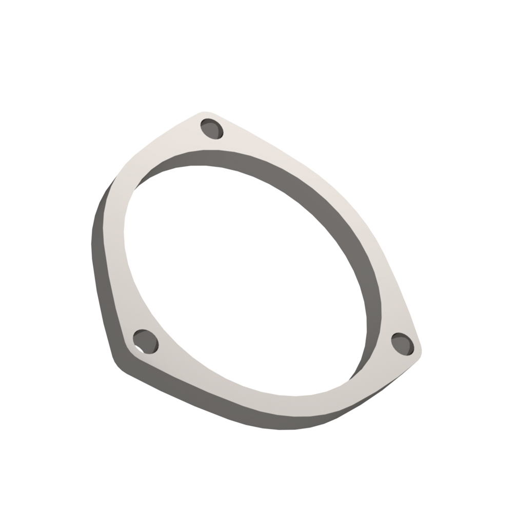 Quick Time Performance 10400F Header Flange, 3/8 in Thick, 4 in Round Port, Steel, Zinc Plated, Each