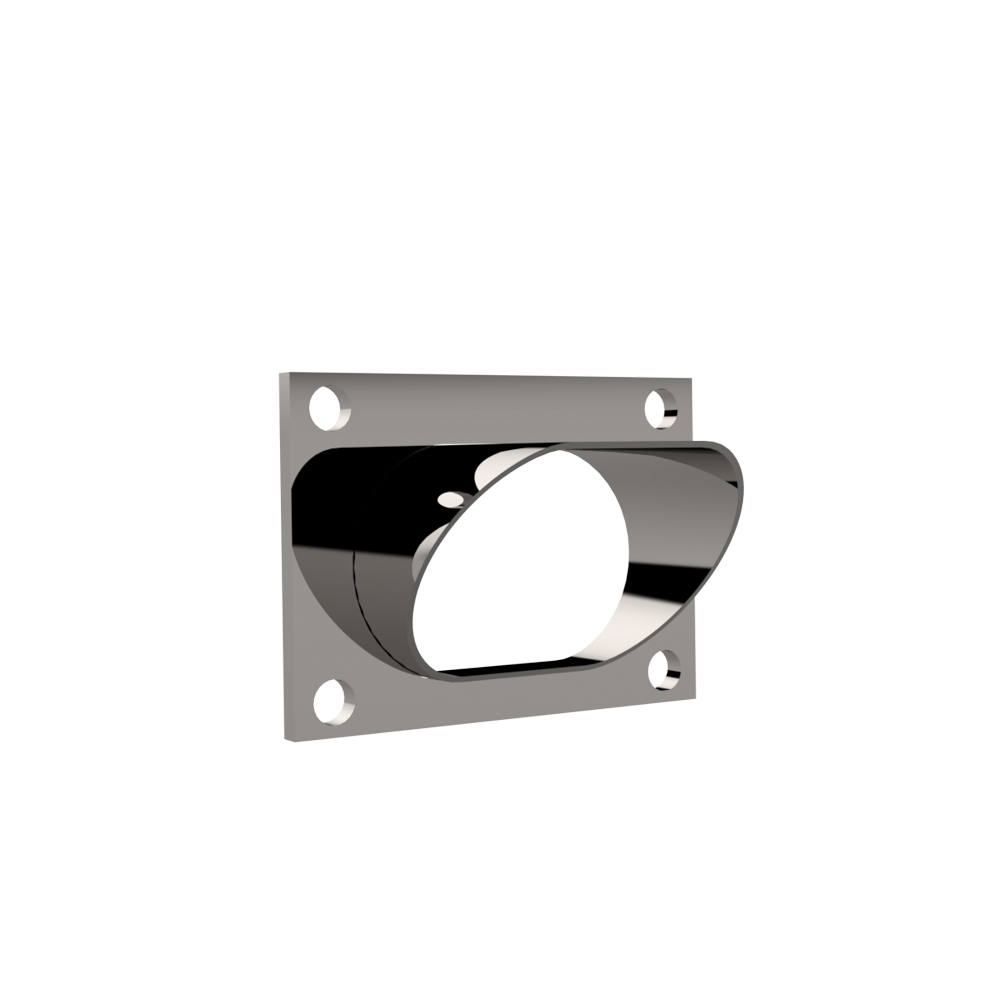 Low Profile Oval Stainle ss Steel Turn Down
