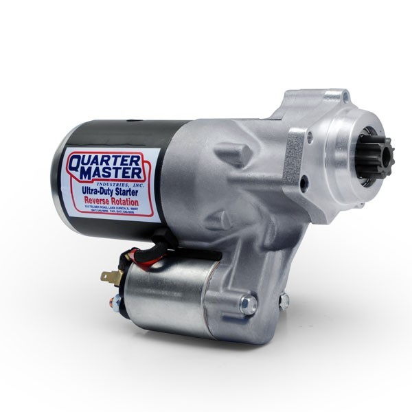 Quarter Master 114267B Starter, Ultra-Duty, Gear Reduction, Reverse Mount, Reverse Rotation, 91 Tooth Clutchless Flywheels, Each