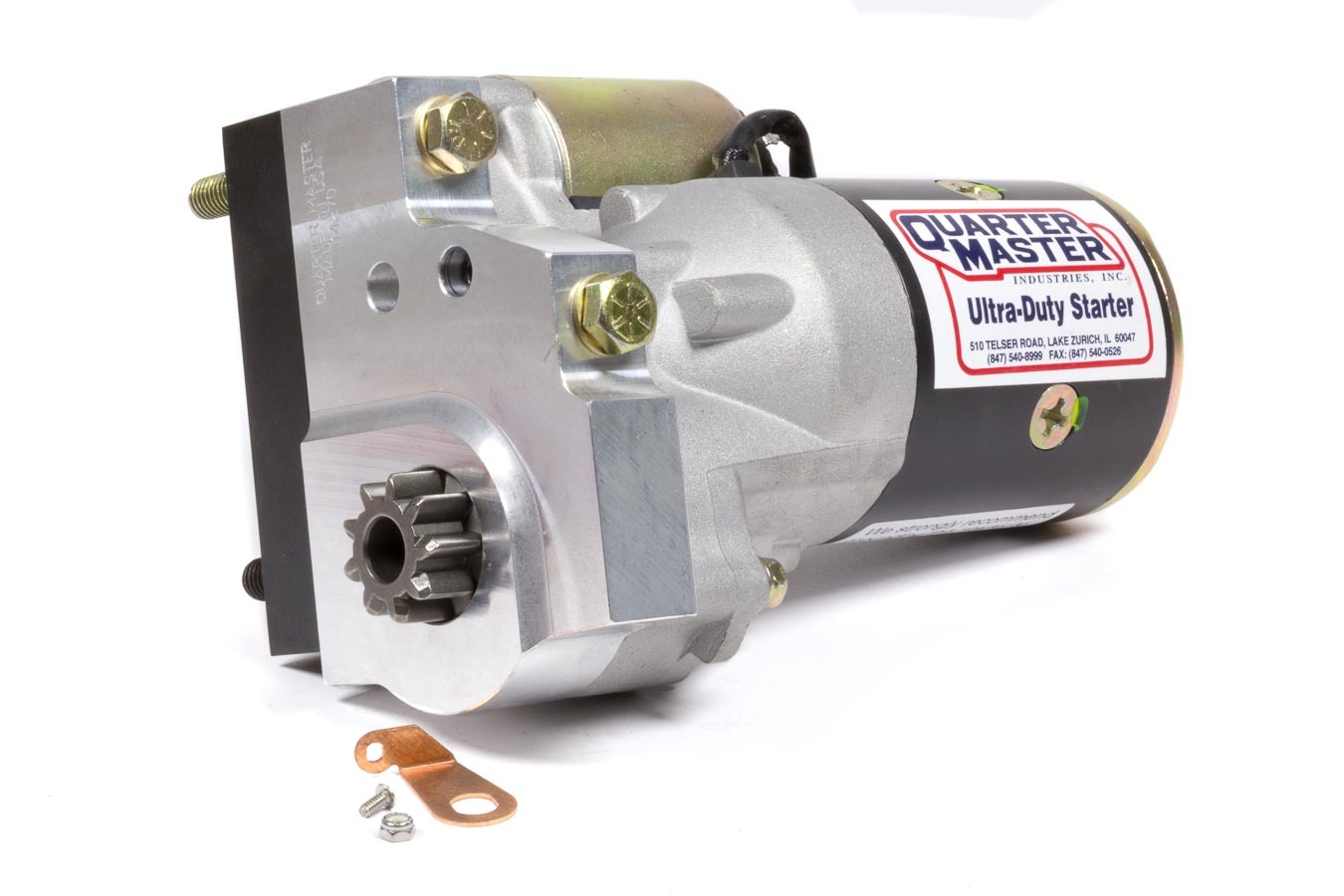 Quarter Master 114270C Starter, Ultra-Duty, Gear Reduction, Block Mount, Standard Rotation, 105 Tooth Low Ground Clearance Flywheels, Each