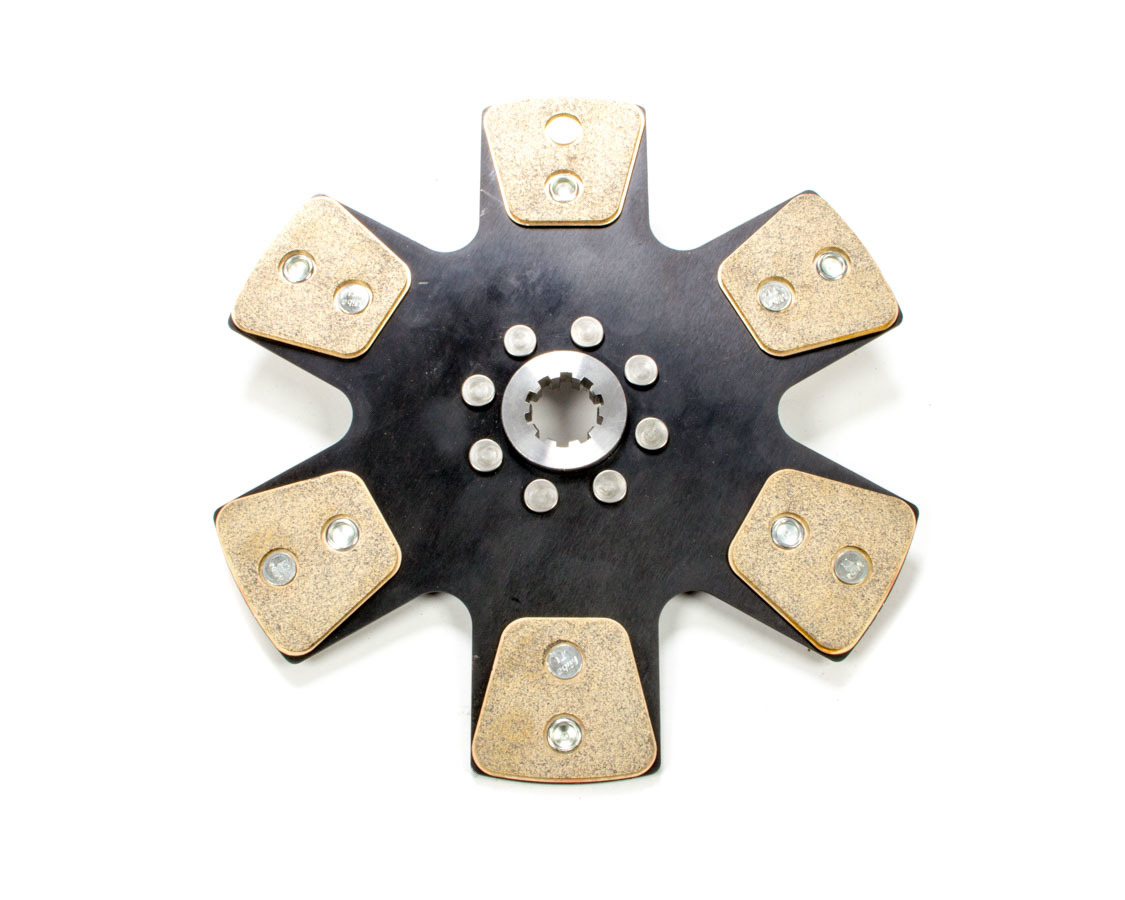 Ram Clutch 1021 Clutch Disc, 1000 Series, 10-1/2 in Diameter, 1-1/8 in x 10 Spline, Rigid Hub, 6 Puck, Metallic, Universal, Each