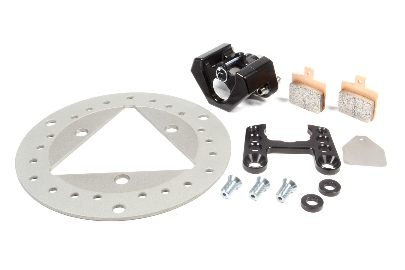 Left Front Brake Kit TI Rotor Black