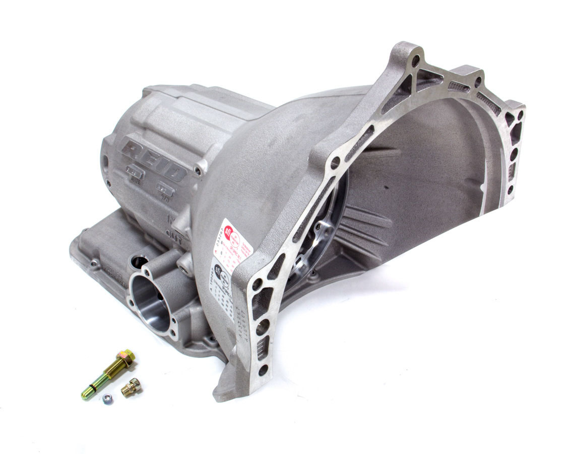 Reid Racing PG1500R Transmission Case, Superglide, SFI 4.1, 1 Piece, Liner / Roller Bearing Included, Aluminum, Natural, Powerglide, Each