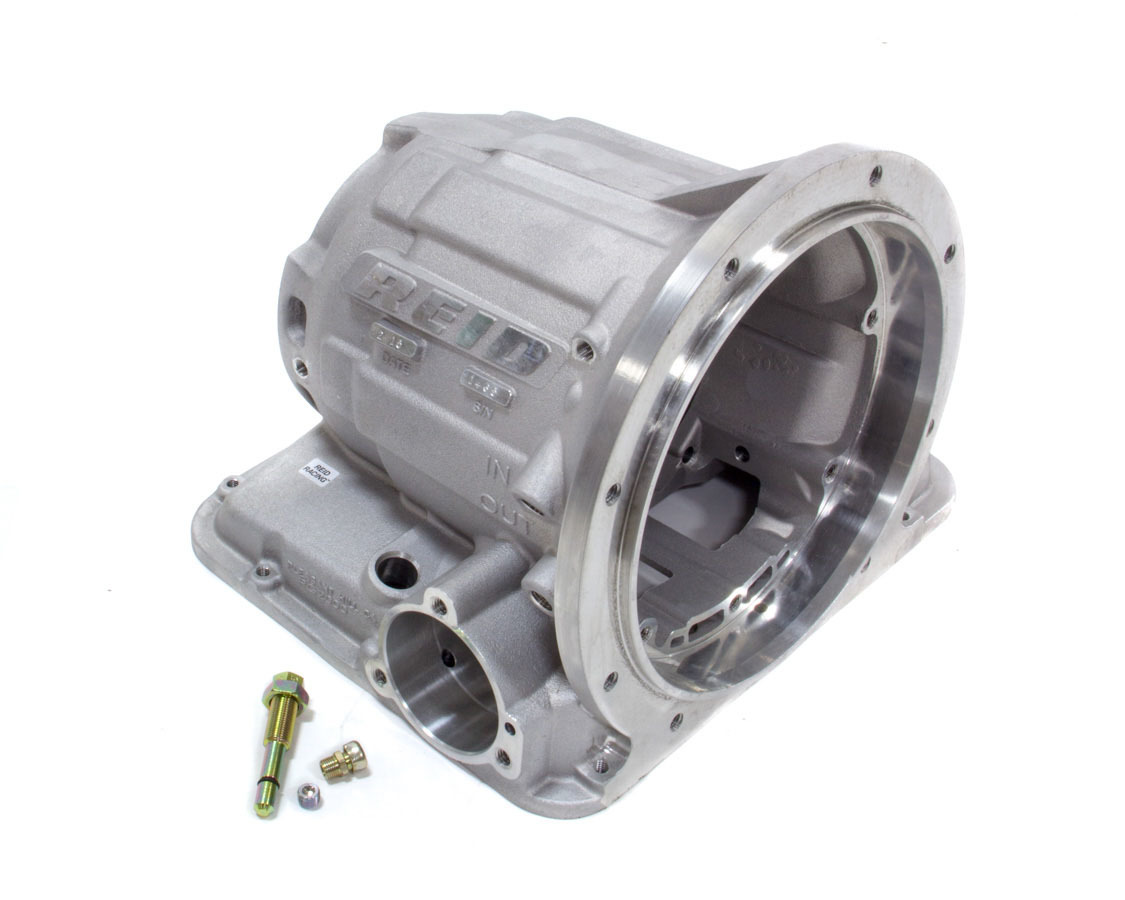 Reid Racing PG2000 Transmission Case, Superglide, SFI 4.1, 2 Piece, Aluminum, Natural, Powerglide, Each