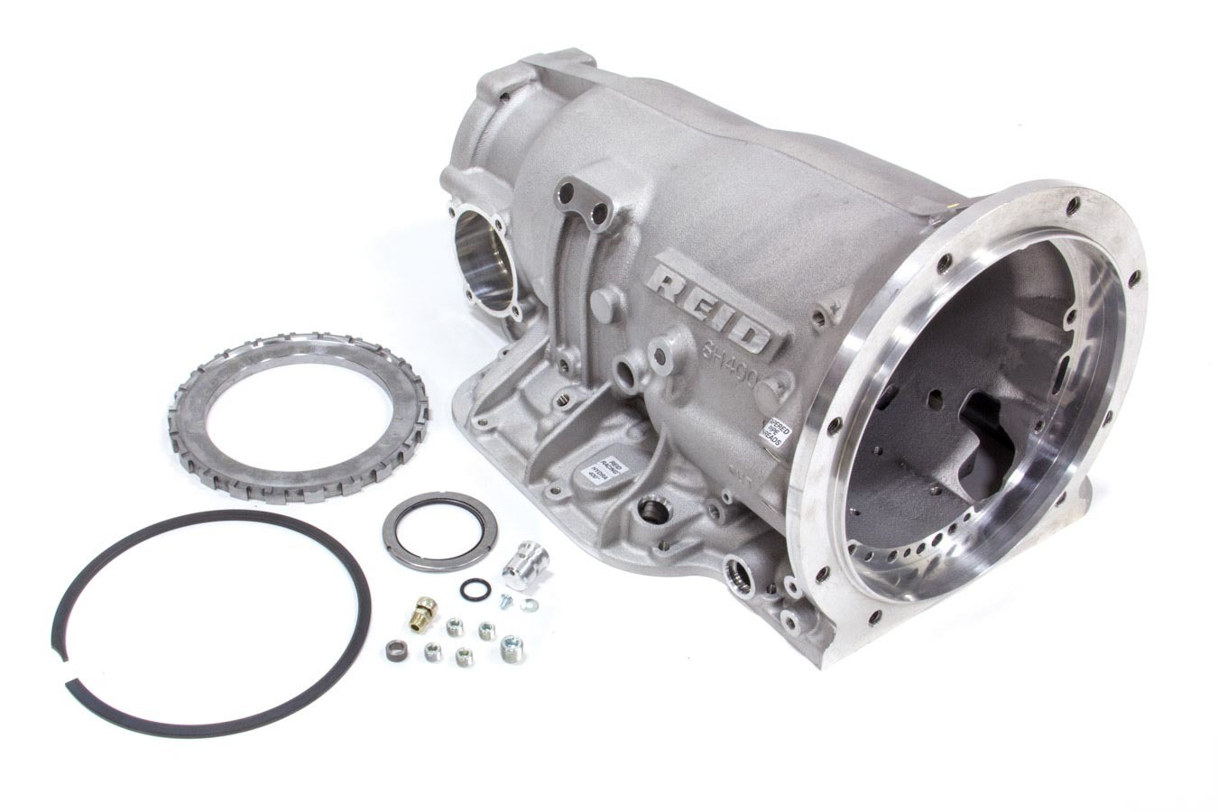 Reid Racing SH400-DRAG Transmission Case, Drag / Street, Super Hydra 400, SFI 4.1, 2 Piece, Aluminum, Natural, GM TH400, Each