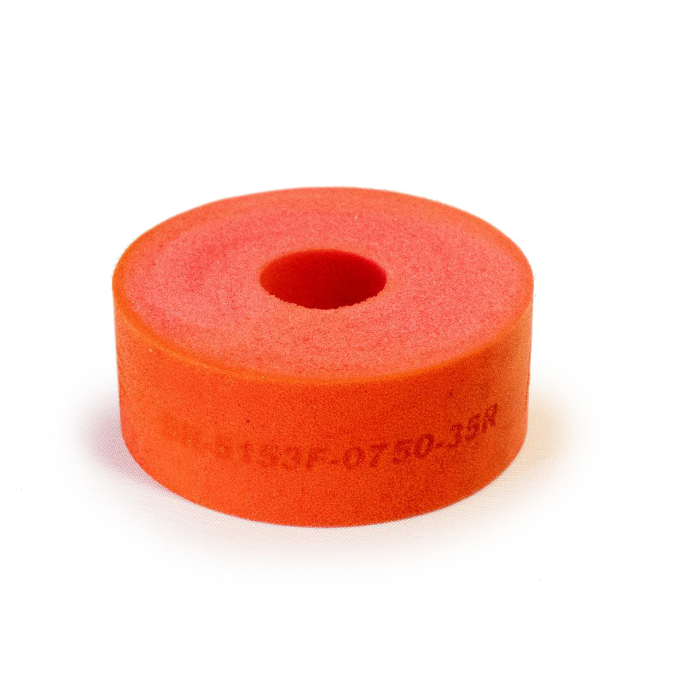 RE Suspension RE-BR-5150F-0750-35R Bump Stop Puck, 5150, 2 in OD, 1/2 in ID, 3/4 in Tall, 35 Durometer, Foam, Red, Each