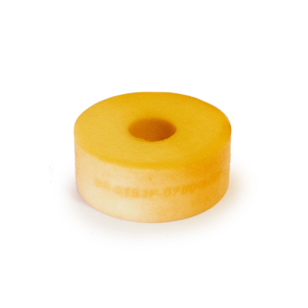RE Suspension RE-BR-5150F-0750-50W Bump Stop Puck, 5150, 2 in OD, 1/2 in ID, 3/4 in Tall, 50 Durometer, Foam, White, Each