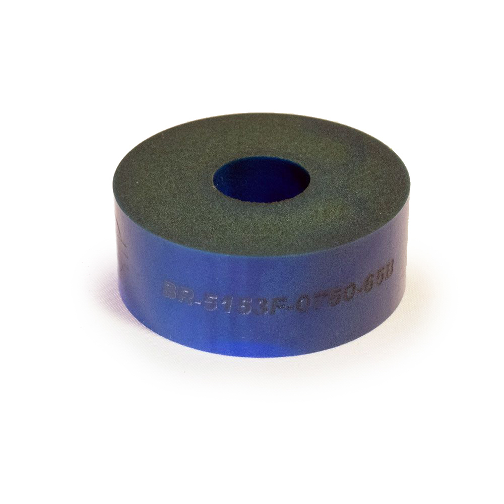 RE Suspension RE-BR-5150F-0750-65B Bump Stop Puck, 5150, 2 in OD, 1/2 in ID, 3/4 in Tall, 65 Durometer, Foam, Blue, Each