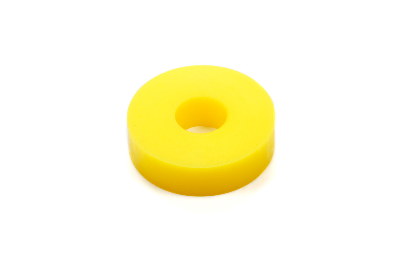 RE Suspension RE-BR-5153-180 Bump Stop Puck, Apollo, 1.875 in OD, 5/8 in ID, 1/2 in Tall, 80 Durometer, Rubber, Yellow, Each