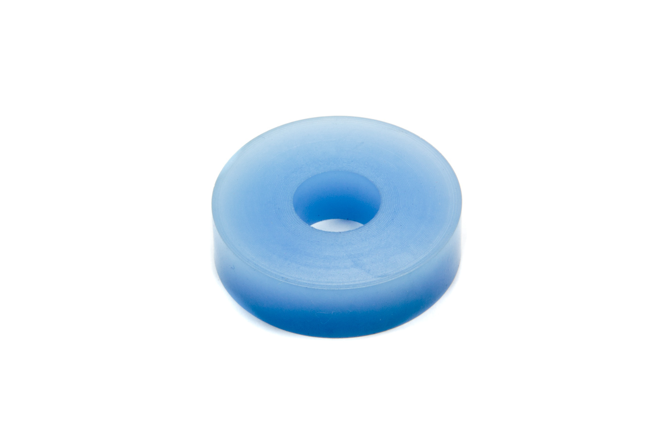 RE Suspension RE-BR-5153-190 Bump Stop Puck, Apollo, 1.875 in OD, 5/8 in ID, 1/2 in Tall, 90 Durometer, Rubber, Blue, Each