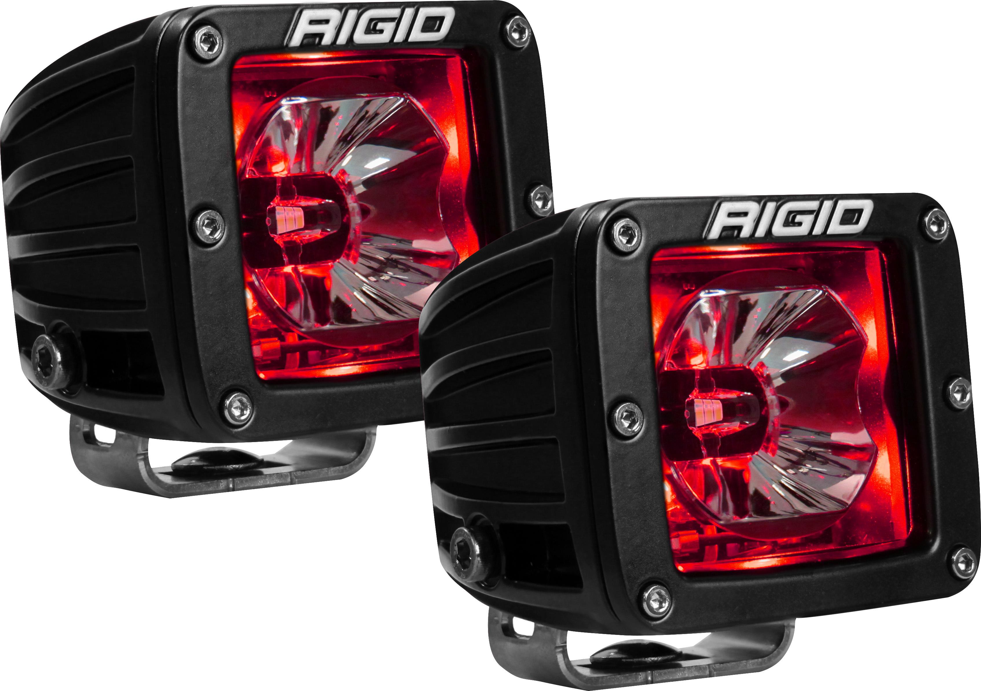 LED Light Pair Radiance Pod Red Backlight
