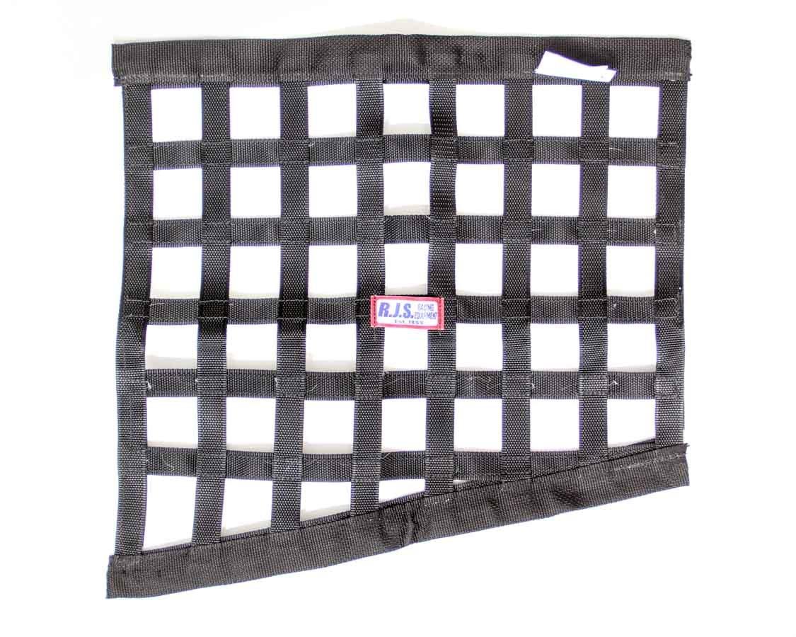 Black Angled Window Net