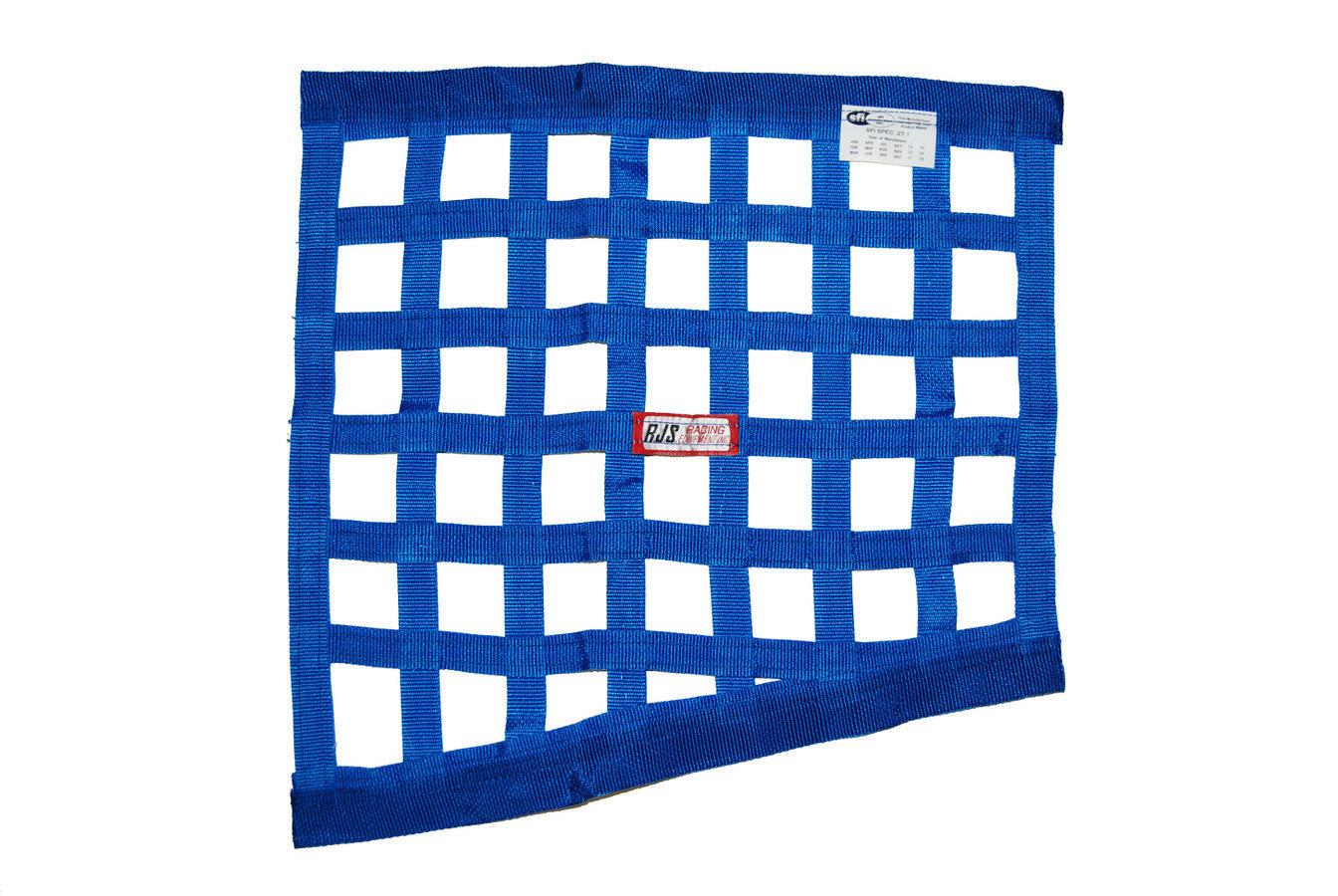 Blue Angled Window Net