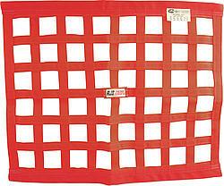 Ribbon Window Net 24x24 Red SFI
