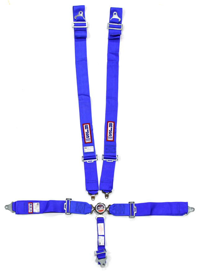 5 Pt Harness System Q/R Blue Roll Bar 2in