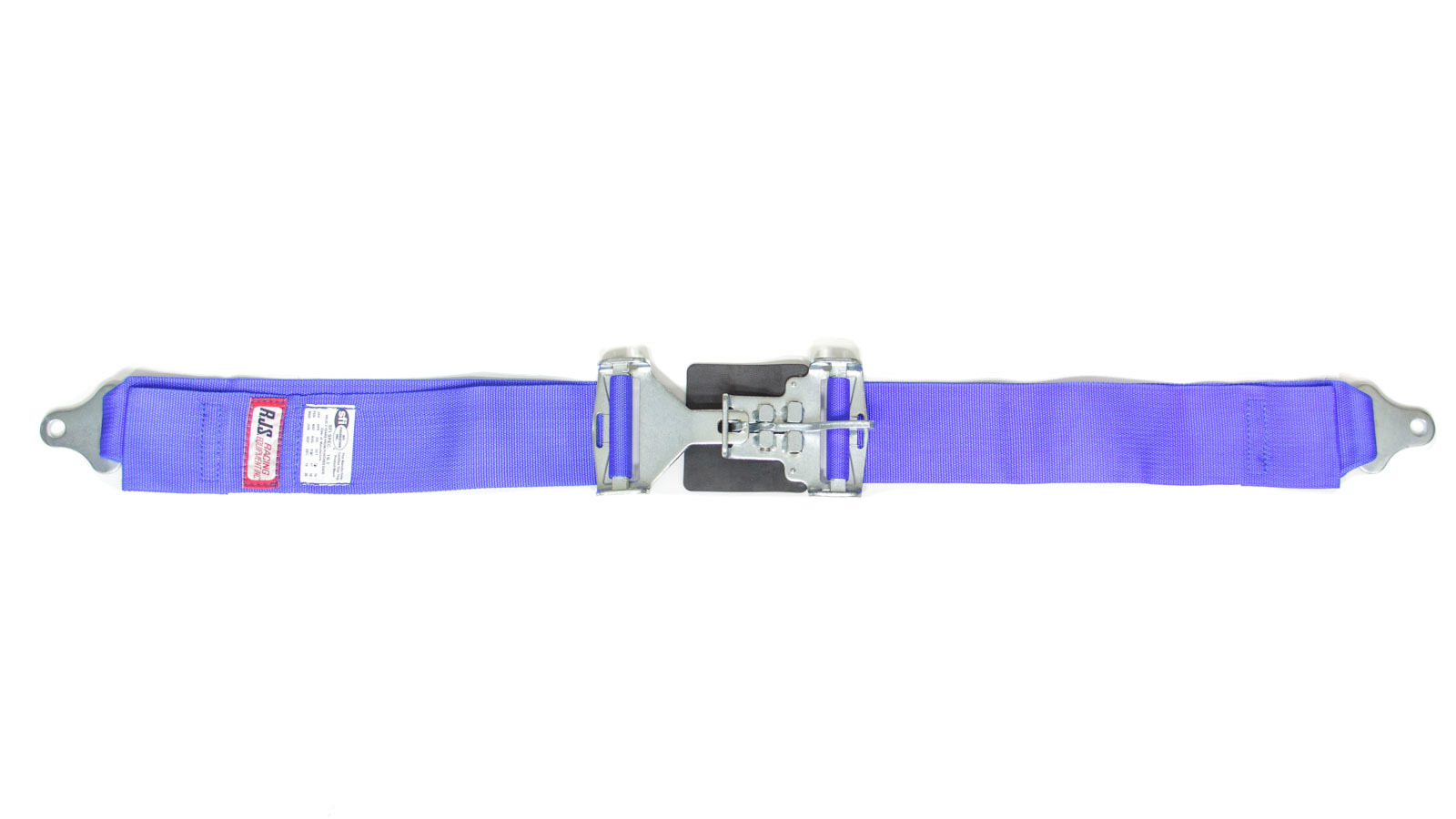 RJS Safety 15001903 Lap Harness, Latch and Link, SFI 16.1, 64 in Length, 3 in Width, Pull Down Adjust, Bolt-On, Blue, Each