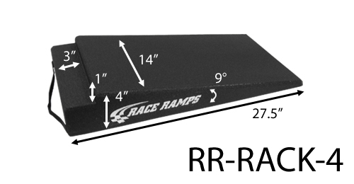 Race Ramps RR-RACK-4 Rack Ramp, 4 in Height, 27.5 in Long, 14 in Wide, Post Lifts, Pair