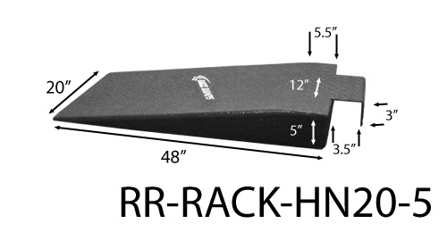 Race Ramps RR-RACK-HN20-5 Race Ramps Hook Nosed Ra mps 20in Wide 5in High