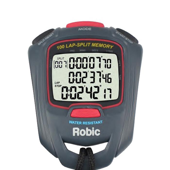 Robic Watches 87917 Stopwatch, Digital, 100 Lap Dual Memory, Multi-Mode, Black, Each