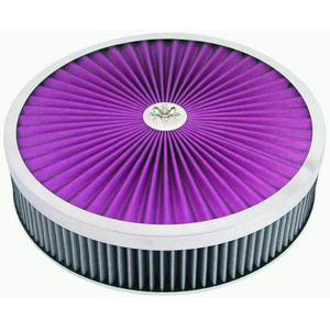 Racing Power Company R2028X Air Cleaner Assembly, 14 in Diameter, 3 in Tall, Reusable Cotton, Each