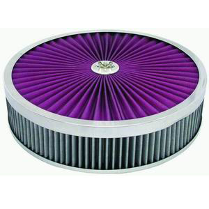 Racing Power Company R2029X Air Cleaner Assembly, 14 in Diameter, 3 in Tall, Reusable Cotton, Each