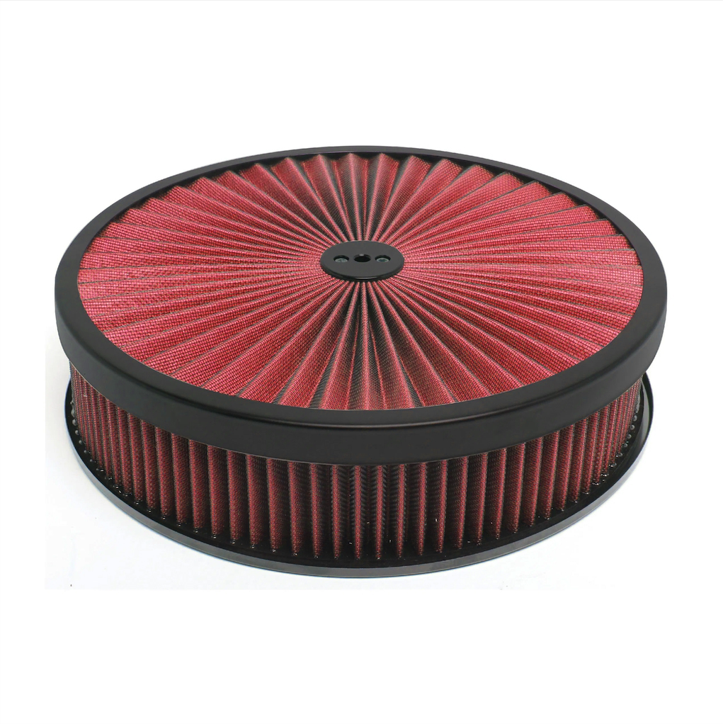 Racing Power Company R2350 14in X 3in Muscle Style Air Cleaner Black/Red