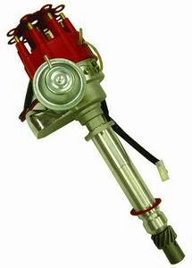 Racing Power Company R3924 Distributor, Ready-To-Run, Magnetic Pickup, Vacuum Advance, Red, Chevy V8, Each