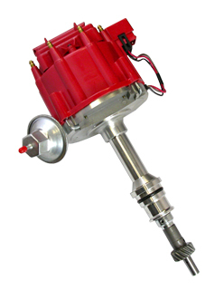 Racing Power Company R3926 Distributor, Ready-To-Run, Magnetic Pickup, Vacuum Advance, HEI Style Terminal, Red, Small Block Ford, Each