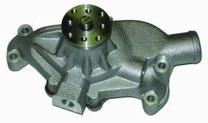 Racing Power Company R3950 Water Pump, Mechanical, 5/8 in Pilot, Short Design, Aluminum, Satin, Small Block Chevy, Each