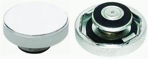 Racing Power Company R5011 Radiator Cap, 16 lb, Round, Knurled Grip, Aluminum, Chrome, Each