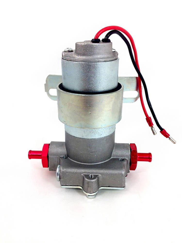 Racing Power Company R6253 Fuel Pump, Electric, In-Line, 100 gph, 7 psi, 5/16 in Hose Barb Inlet, 5/16 in Hose Barb Outlet, Aluminum, Natural, Gas, Universal, Each