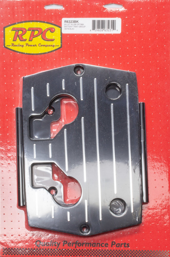 Racing Power Co R6326 Polished Optima Blue Red Yellow Top Battery Tray