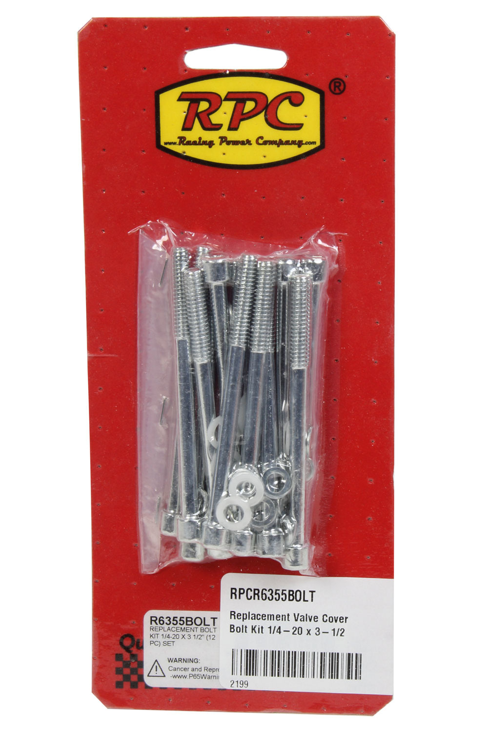 Racing Power Company R6355BOLT Replacement Valve Cover Bolt Kit 1/4-20 x 3-1/2
